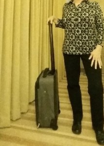 This is the offending 'excess baggage.' For purposes of comparison, I'm just over 1.5m (5 ft) tall.